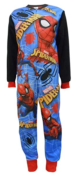 Onezee Boys Spiderman Character Pyjamas Sleepsuit Childrens All In One 2-8 Years