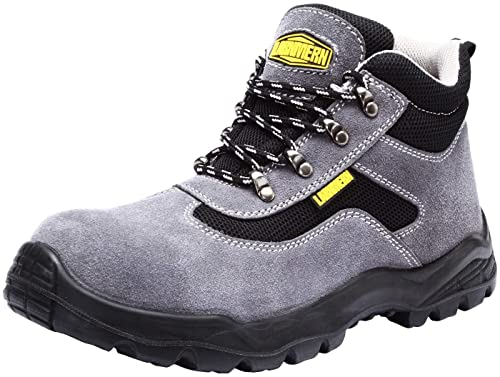 220cc3327f3 Mens Work Safety Boots, Steel Toe SRC Casual Breathable Outdoor Protection  Trainers Industrial and Construction Shoes