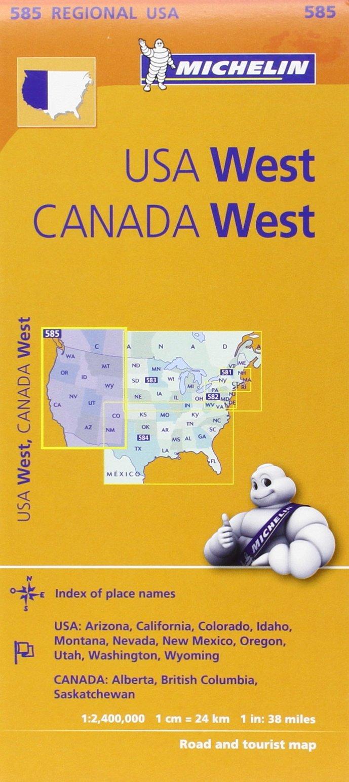 michelin usa west canada west etats unis ouest canada ouest map 585 michelin 9782067175259 books amazonca