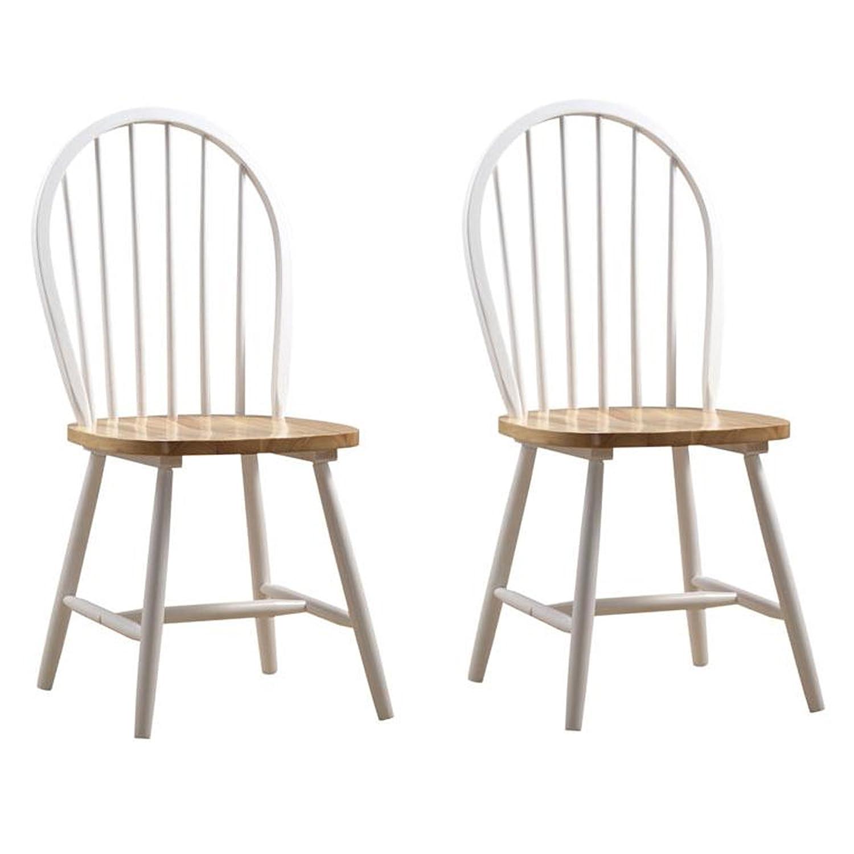 Amazon Boraam Farmhouse Chair White Natural Set of 2