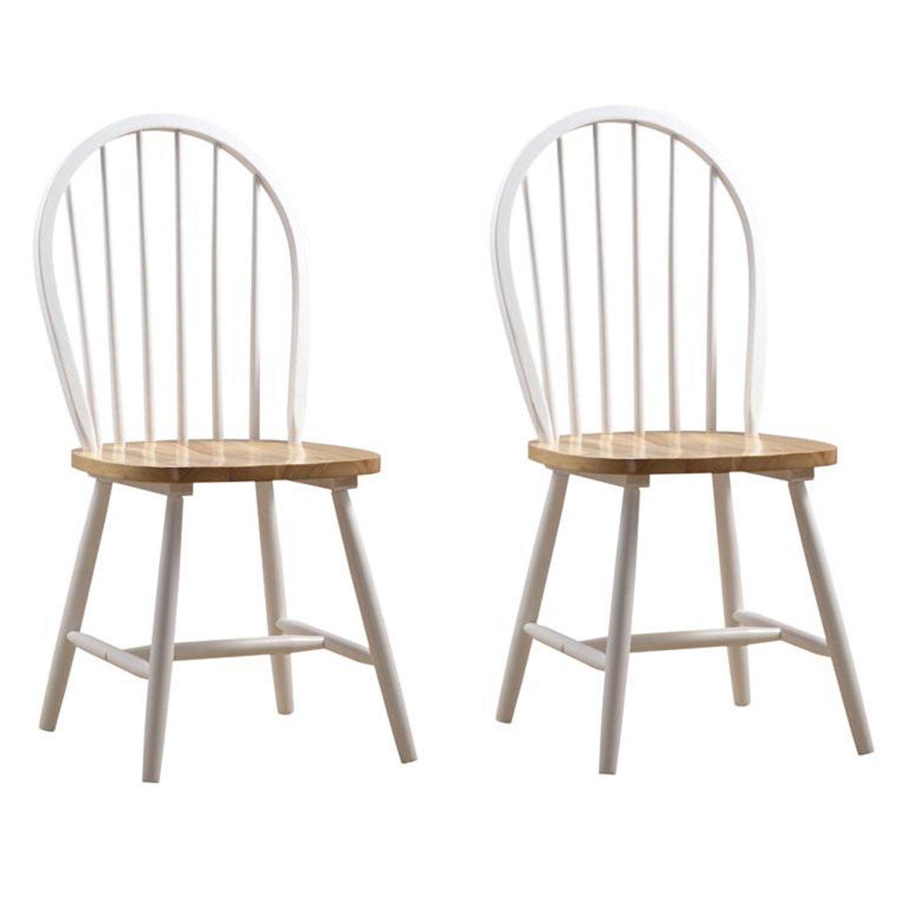 Boraam 31316 Farmhouse Chair, White/Natural, Set of 2 by Boraam (Image #2)