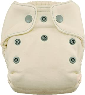 product image for Thirsties Snap Natural Newborn Bamboo Fitted Cloth Diaper, Fin