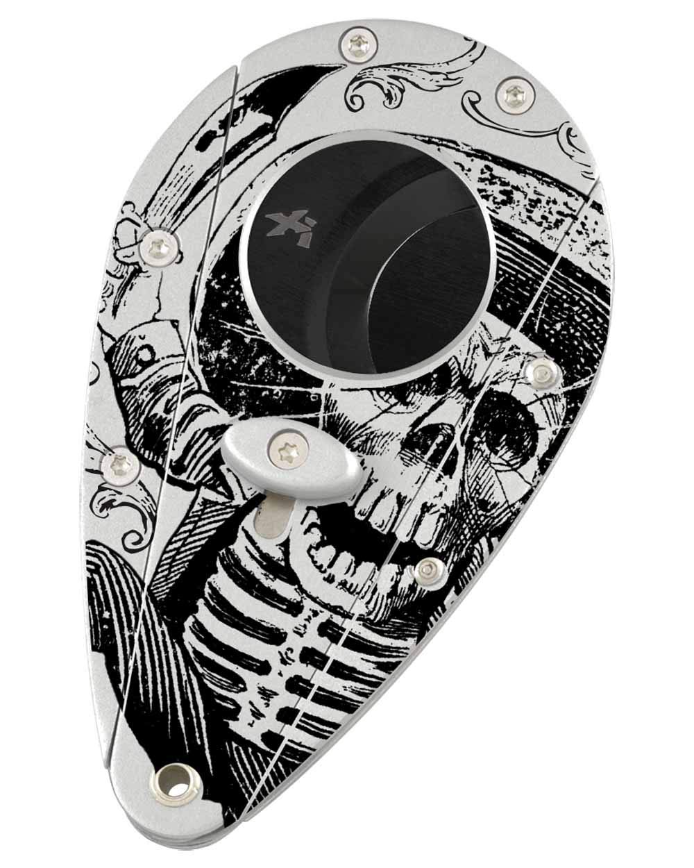 Xi1 Limited Edition Las Calacas Day of The Dead Double Guillotine Cigar Cutter Gift Box Silver Skull