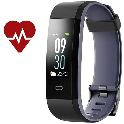 Kinbom Rastreador de Fitness, Monitor de frecuencia cardíaca Color Reloj Inteligente con Monitor de sueño