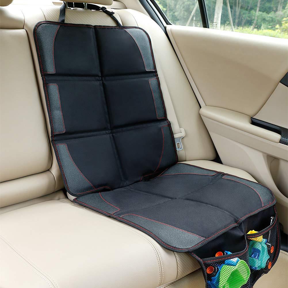 Premium cubierta Isofix por asiento delantero y trasero con bolsillo y tama/ño universal Funda impermeable protegida de beb/é coche contra da/ños//polvos//l/íquidos//pelos Protector de asiento de coche