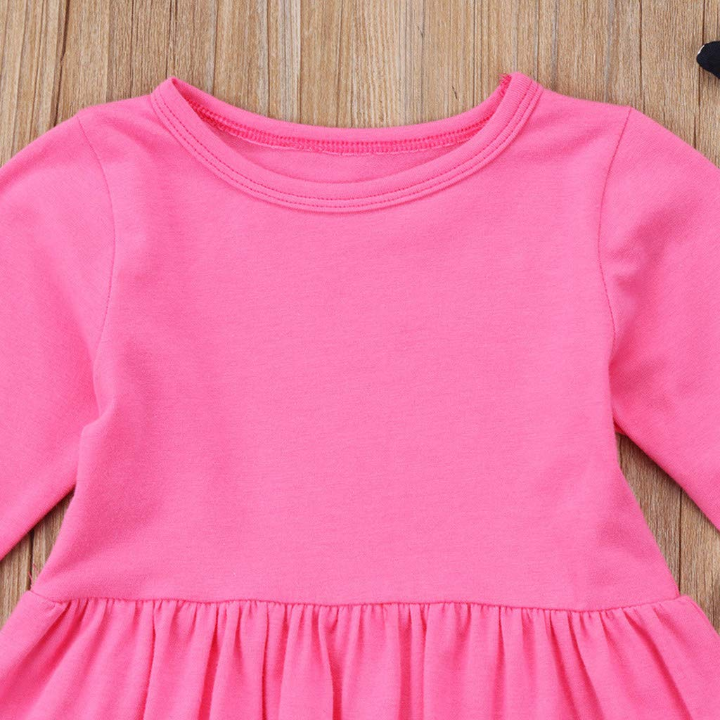 Toddler Baby Girls 6 Months-5T Solid Ruffles Tops Dresses Print Floral Pants Clothing Sets