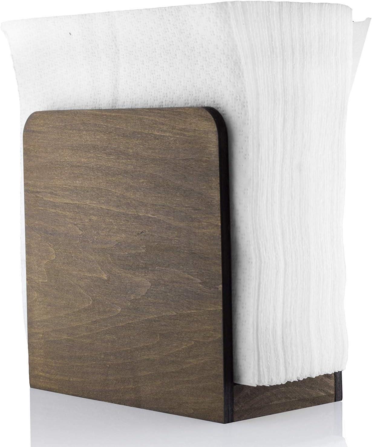 Restaurant Decor Kitchen Accessories Handmade Wooden Napkin Holder