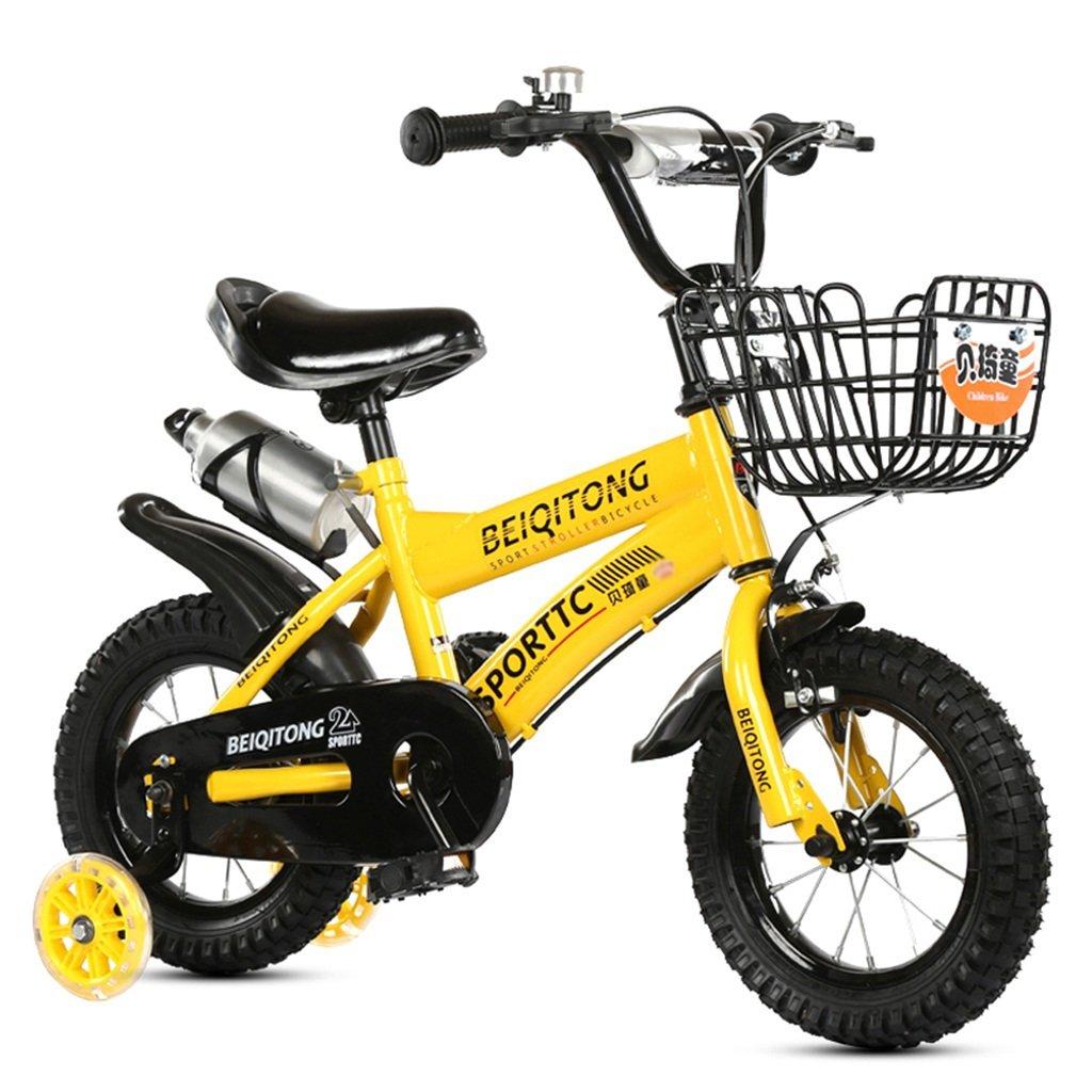 子供の自転車、少年の自転車の少女の自転車初心者の自転車スチール自転車とケトルクリエイティブセーフティ自転車の長さ88-121CM (色 : イエロー いえろ゜, サイズ さいず : 115CM) B07D6PDVDW 115CM|イエロー いえろ゜ イエロー いえろ゜ 115CM