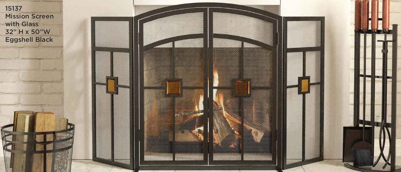 amazon com panacea products 15137 3 panel mission fireplace