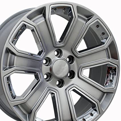 Amazon.com  OE Wheels 20 Inch Fits Chevy Silverado Tahoe GMC Sierra ... 0a5852e42e