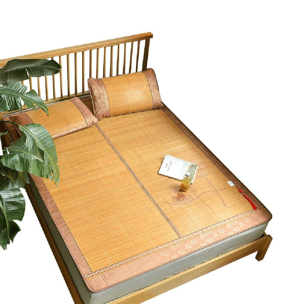 WENZHE Matratzen Schlafunterlage Matratze Bambus Faltbar Atmungsaktiv Sommer Doppelseitig Verfügbar 2 Kissenbezüge, 5 Größen Verfügbar Strohmatte Teppiche (größe : 120X190cm)