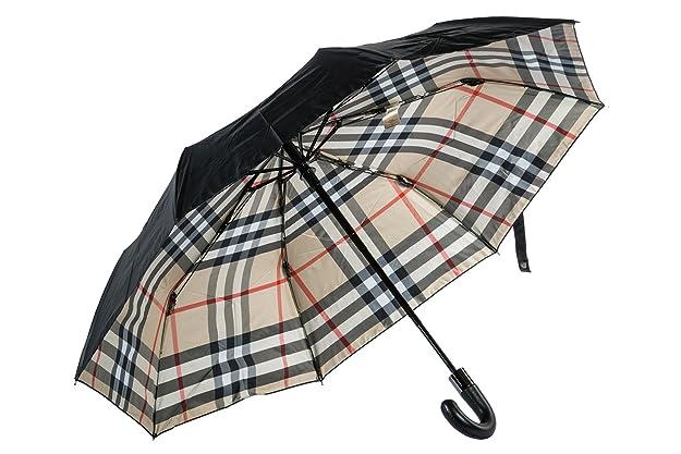 Burberry pequeño paraguas automático de hombre nuevo Strand marrón: Amazon.es: Zapatos y complementos
