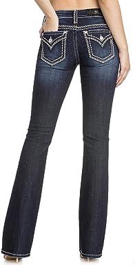 Miss Me Womens Womans Dark Wash Boot Cut Jeans - M5014b291