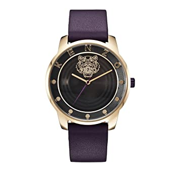 3ff55d92 Kenzo Unisex Black Dial Leather Band Watch - K0054009: Amazon.ae