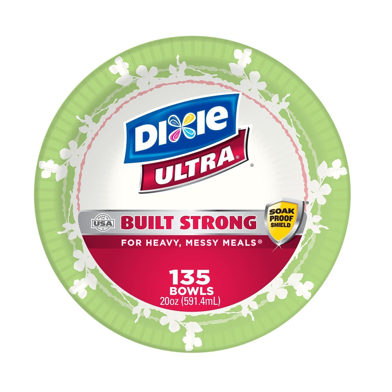 Dixie Ultra Paper Bowls, 20 oz, 135 Count