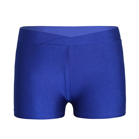 3cf2e8232 dPois Fille Enfant Short de Sport Gymnastique Gym Ballet Short de Danse  Justaucorp Yoga Short de Bain Plage Legging Pantalon Court Extensible Short  de ...