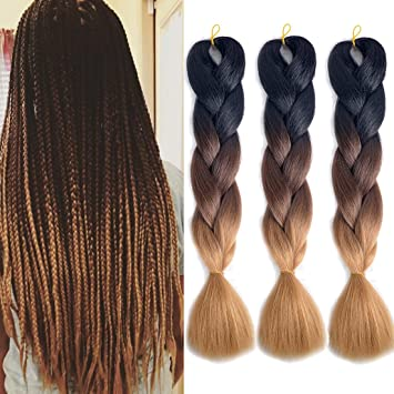 Hair Extensions & Wigs Hot Sale Refined Hair 24inch Jumbo Braid Ombre Kanekalon Braiding Hair Extensions Brown Blonde Synthetic Crochet Braids For Men Women