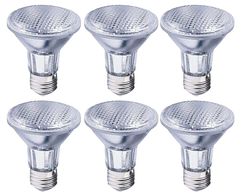 Triangle Bulbs T10676-6 39-Watt PAR20 Halogen Reflector Light Bulbs, 50 Degree Wide Flood, 130V, (50W replacement,) EXTENDED LONG LIFE, 6-Pack