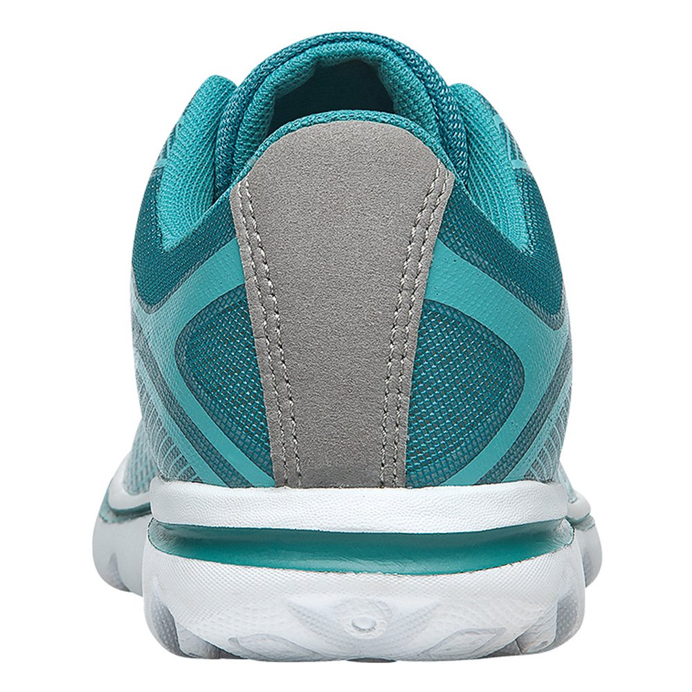 Propet Women's Billie Walking Shoe B0118BXP9M 7 B(M) US|White, Turquoise