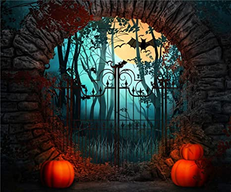 lb halloween backdrop for photography backgrounds 7x5ft vinyl halloween night forest backdrop for party event decorations
