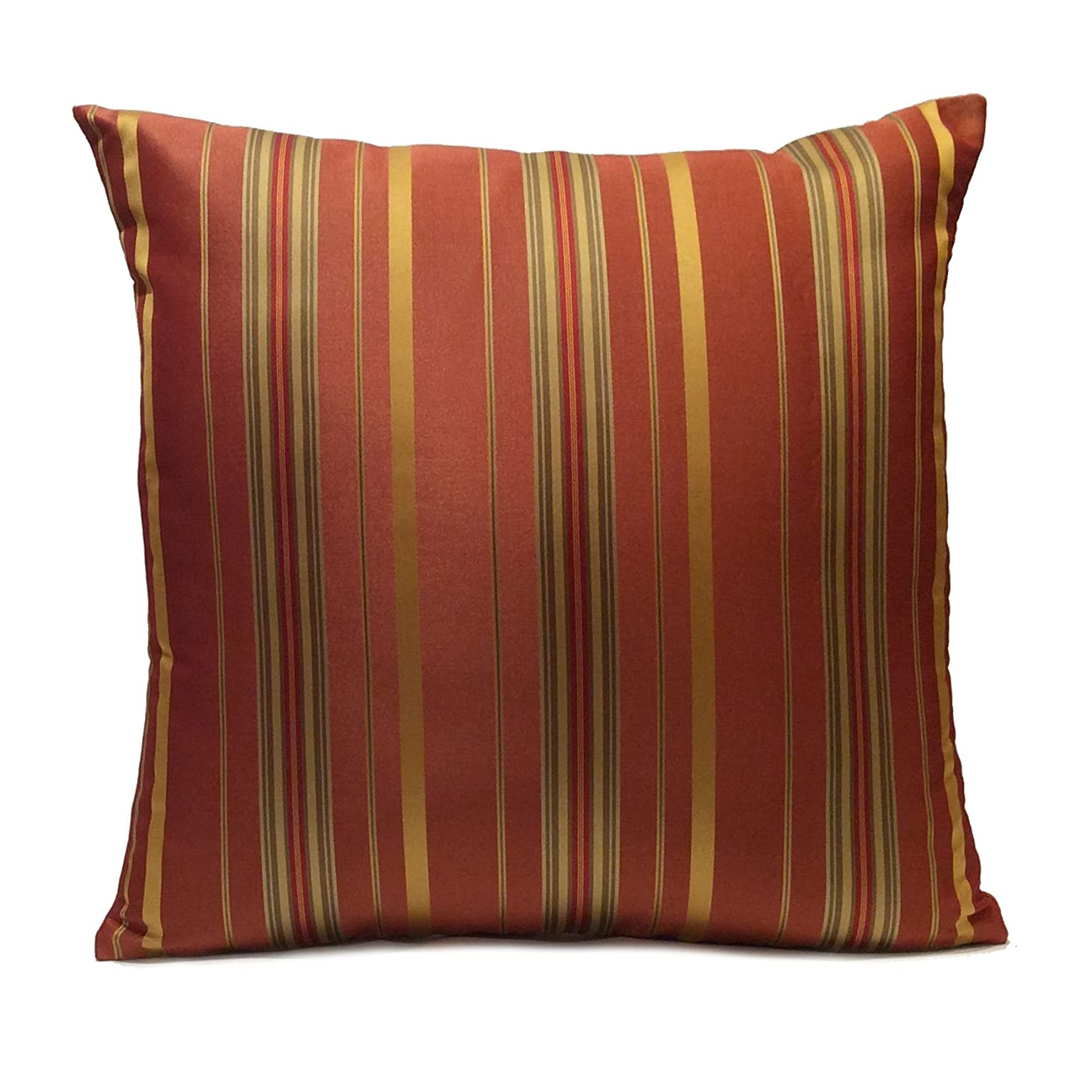 Copper Satin blend Decorative Throw Pillow Cover with Gold & red Stripes,Modern pillow,Accent Pillow,Toss Pillow,Pillow Sham,Cushion Pillow. (18
