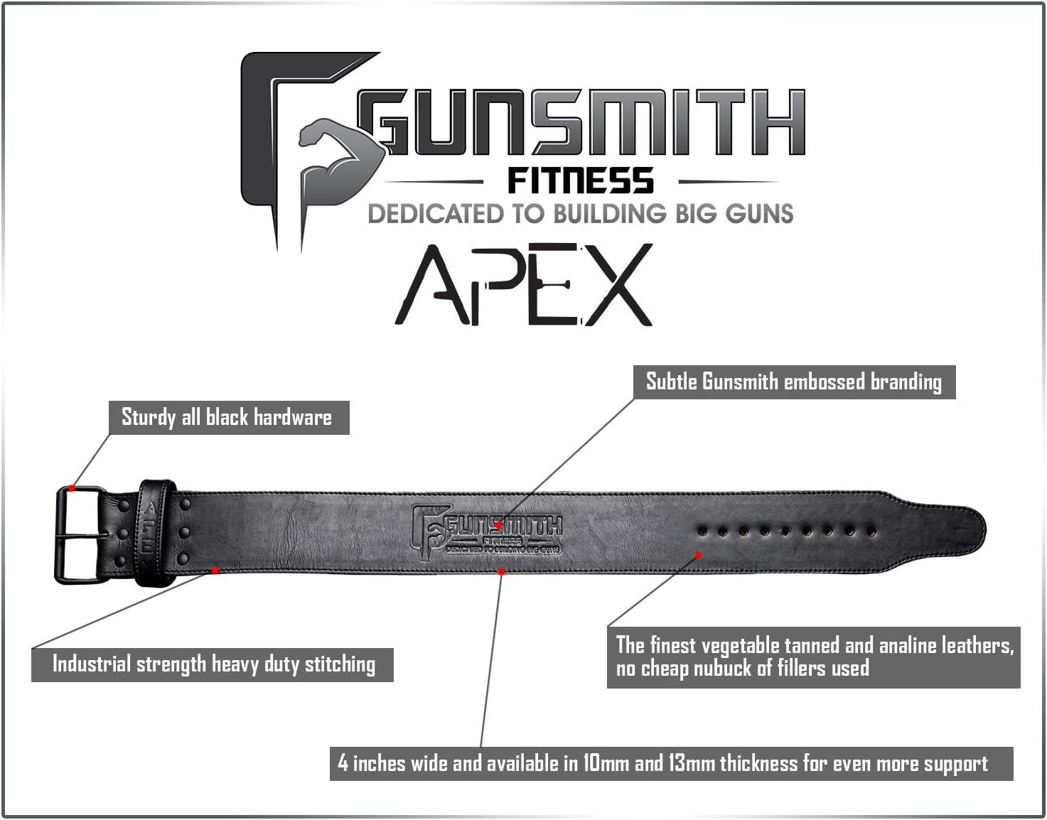 Ultra Premium Handmade Gunsmith Fitness Apex Lifting Belt All Black Olympic /& Powerlifting