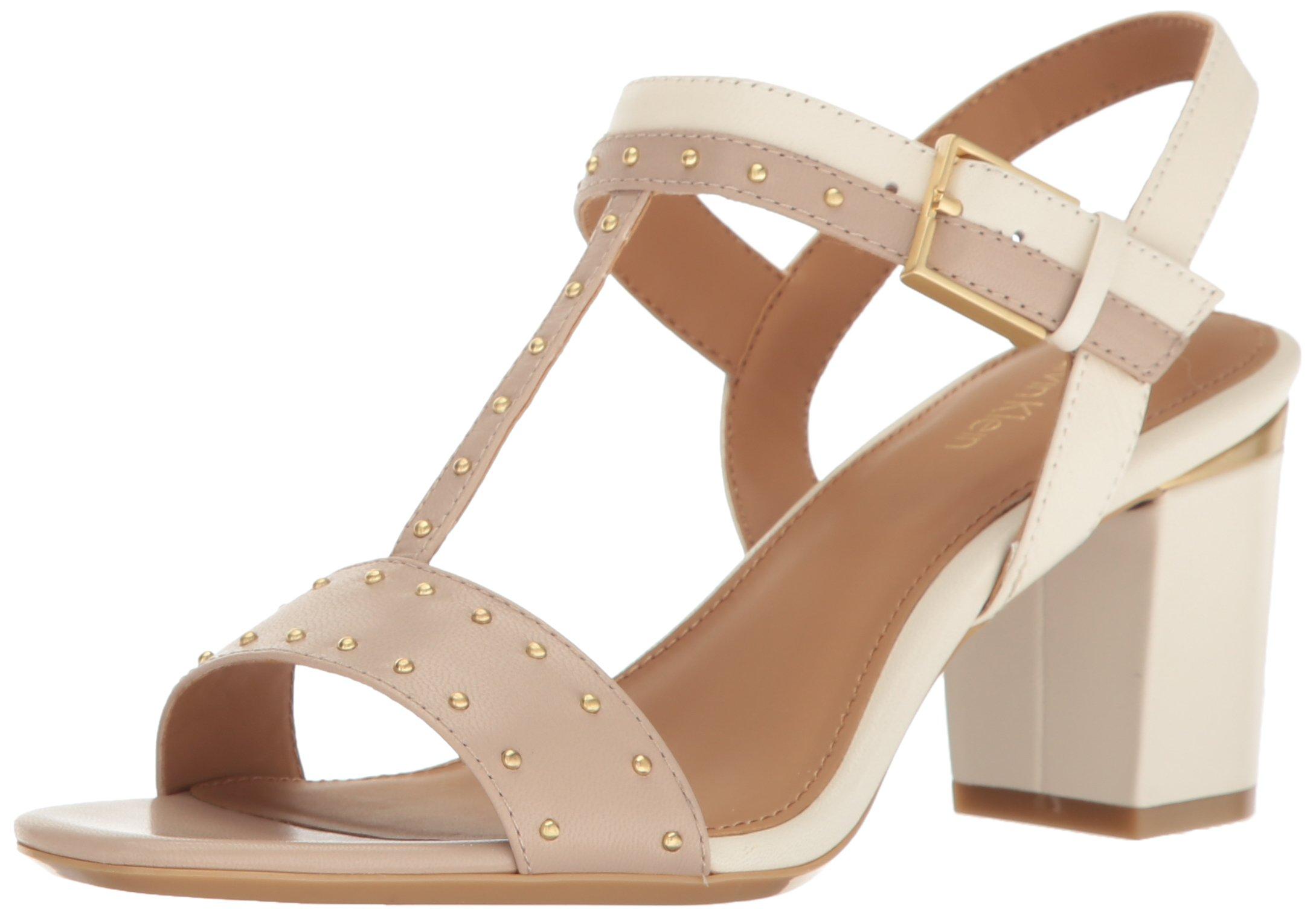 Calvin Klein Women's Carline Dress Sandal, Cocoon/Soft White, 8.5 M US by Calvin Klein