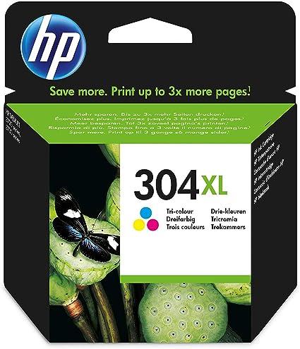 HP N9K07AE 304XL Cartucho de Tinta Original de alto rendimiento, 1 ...