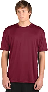 product image for WSI Microtech Loose Short Sleeve Shirt, Cardinal Red, Youth Medium