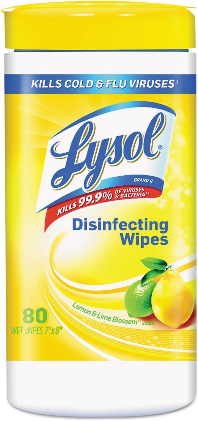 Brand Lemon and Lime Blossom Sanitizing Wet Wipes, 80/Canister