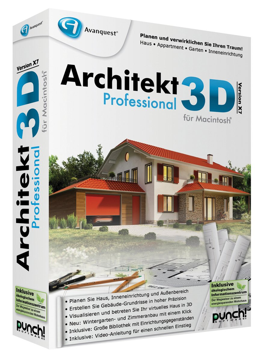 Architekt 3d X7 Professional Für Mac Amazonde Software