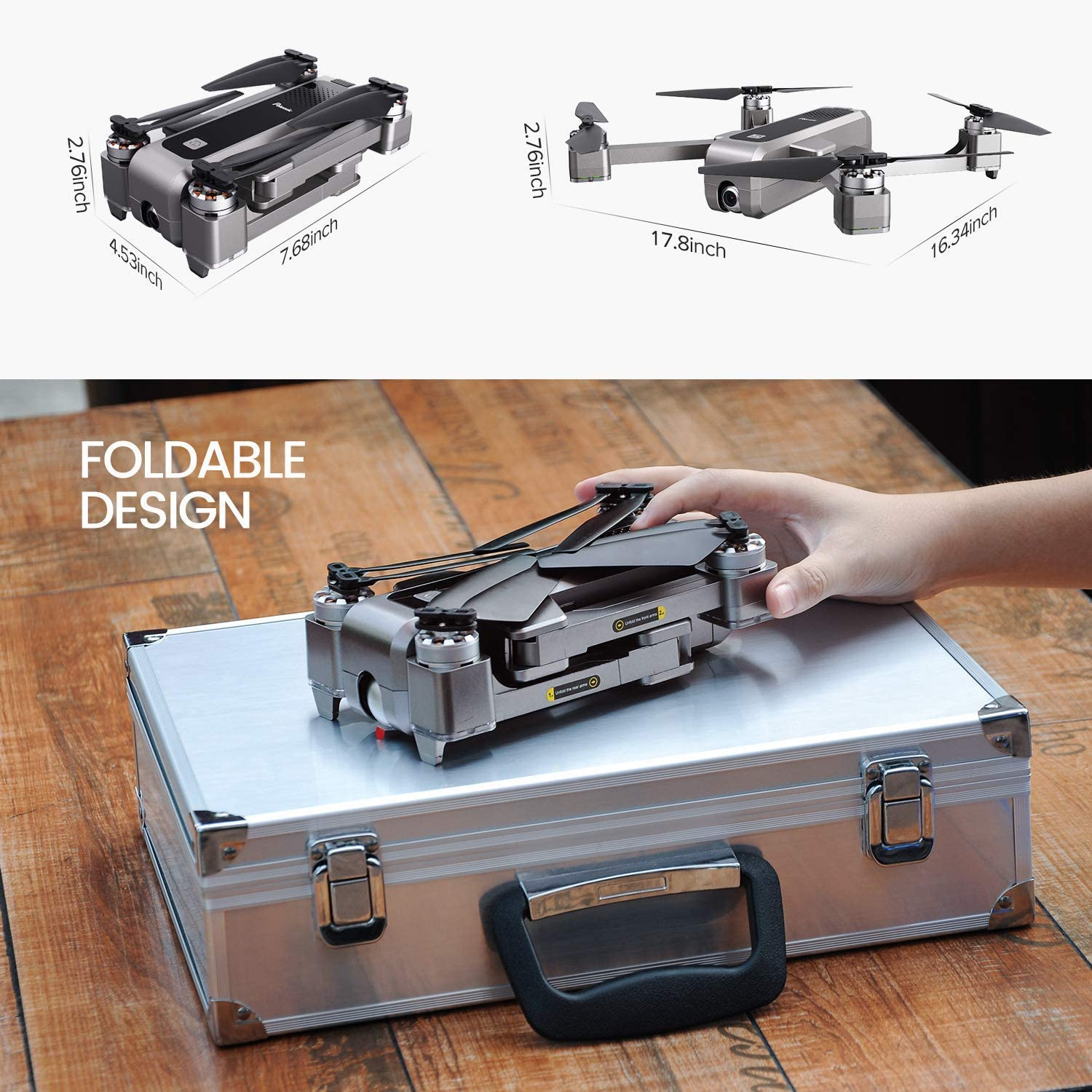 Potensic D88 Foldable Drone is the Best foldable Drone Under 300 dollars