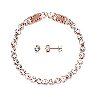 690d4d2a365 GEORGE · SMITH ❤️Cadeau Noël❤️Bijoux Femmes Bracelets de Tennis en Argent  Sterling 925