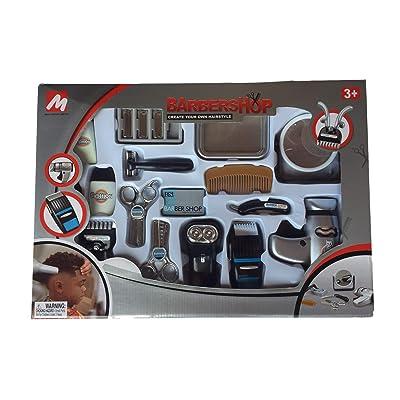 Migo Toy Barber Set for Boys Kids Barbershop Hair Salon Play Sets: Toys & Games