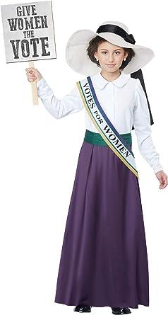 Girls American Suffragette Costume