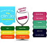 Clingks 12 Drink Markers - OPPOSITES ATTRACT - Fun Alternative to Wine Charms