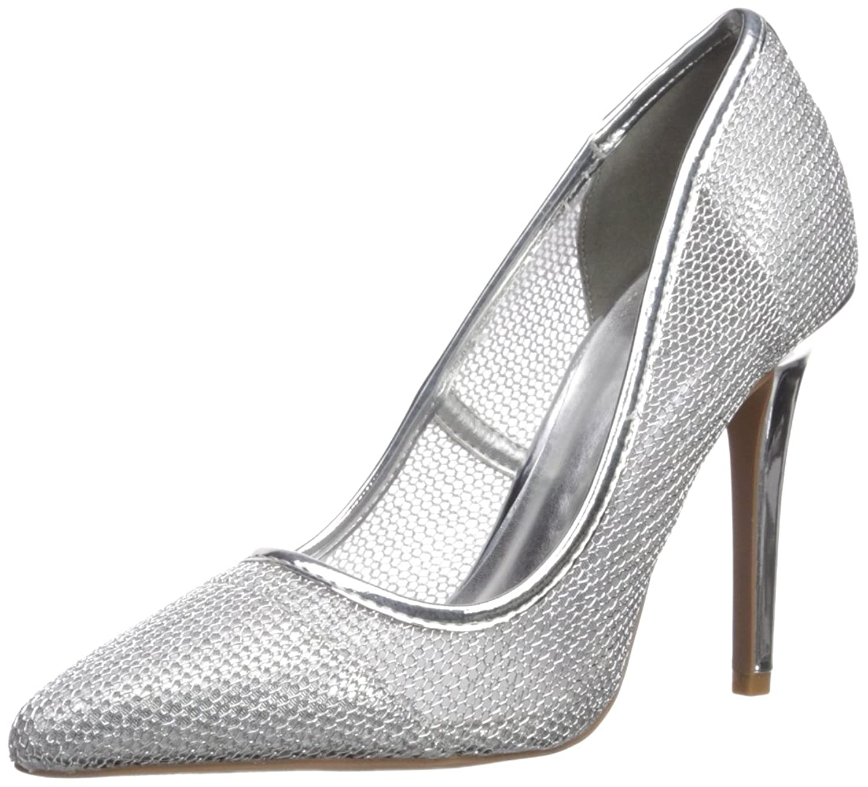 Qupid Women's Milia123 Pump Silver Size 6.0