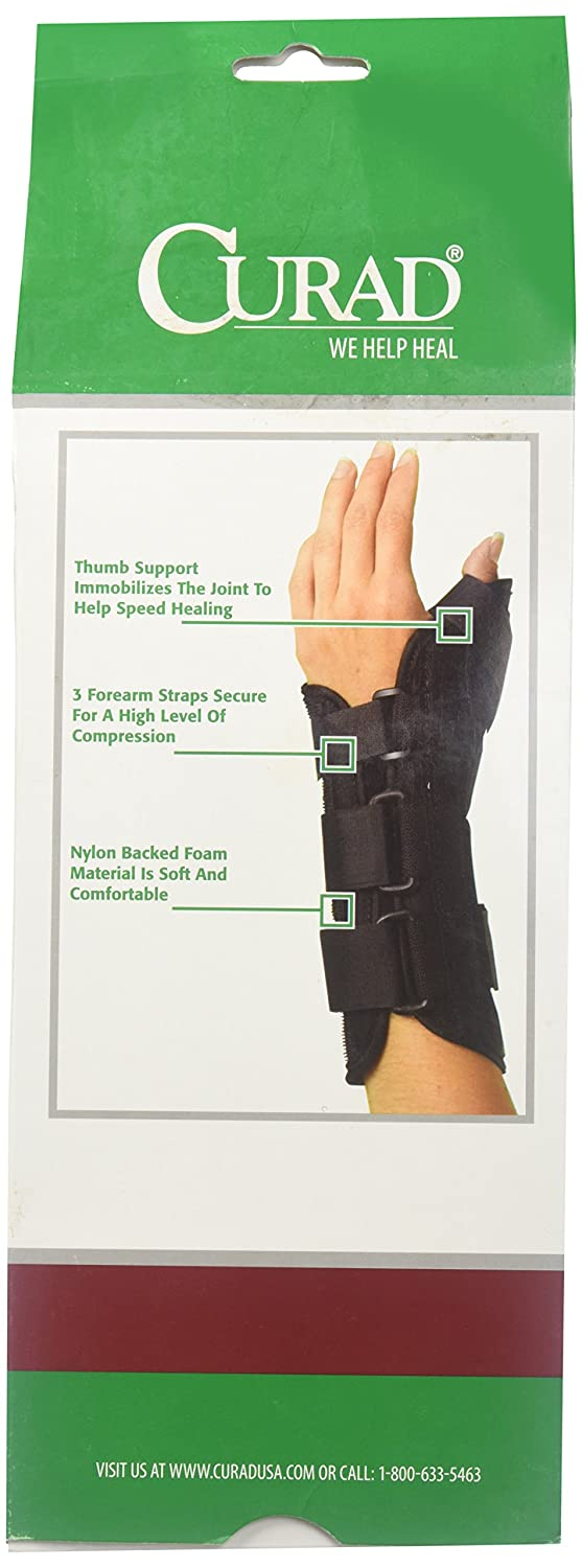 Curad Wrist and Forearm Splint with Abducted Thumb X-Large Right