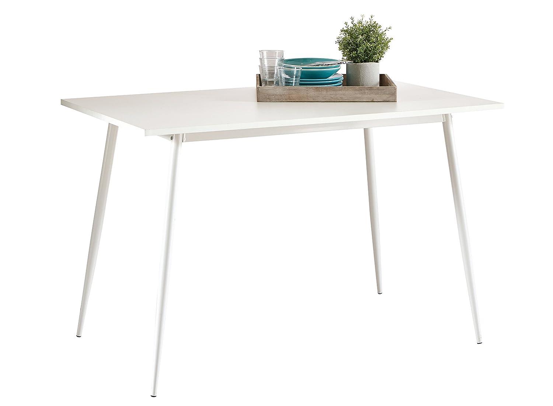 Mesa de cocina comedor blanca, tablero de color blanco de melamina ...