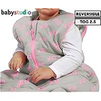 Baby Studio Winter Version 2.5 Tog XO Cotton Studio Bag for 6-18 Month Babies, XO Pink