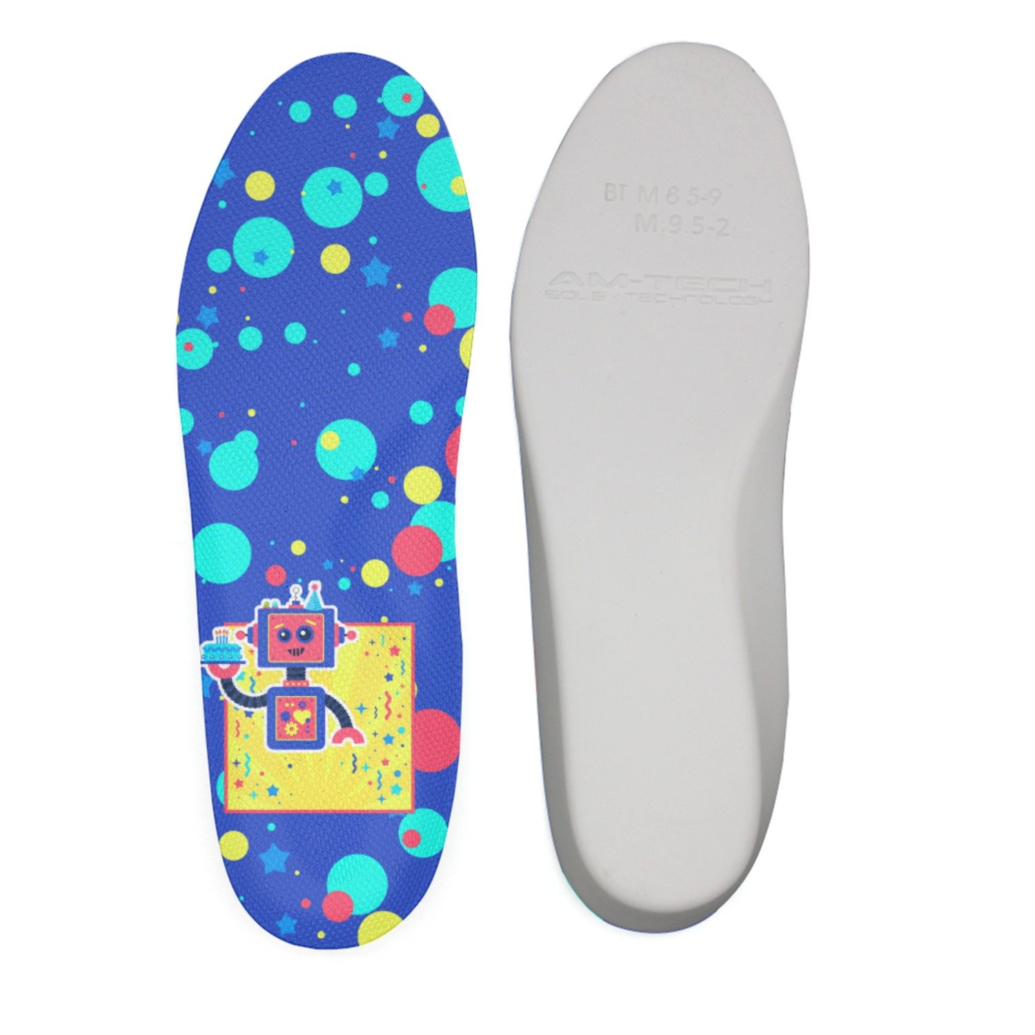 Ether Dobbin Retro Robots In Space Sci-Fi Robotics Comfort Antimicrobial No Stink Insole Full Length Shoe Insole