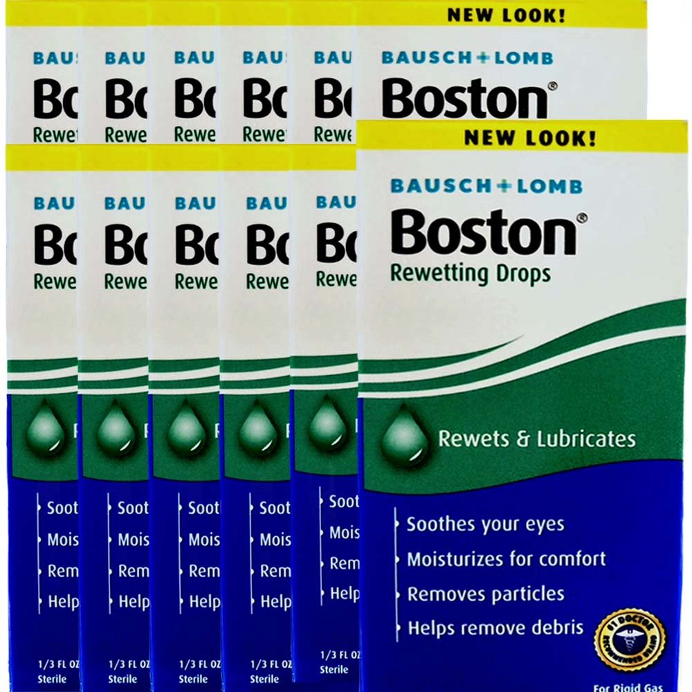 Boston Rewetting Drops .3 Oz, Pack of 12