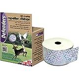 Defenders Repeller Ribbon (Humane, Weather-Proof Iridescent Tape, Bird Deterrent, Scares Pigeons and Deer from Gardens), 30 m