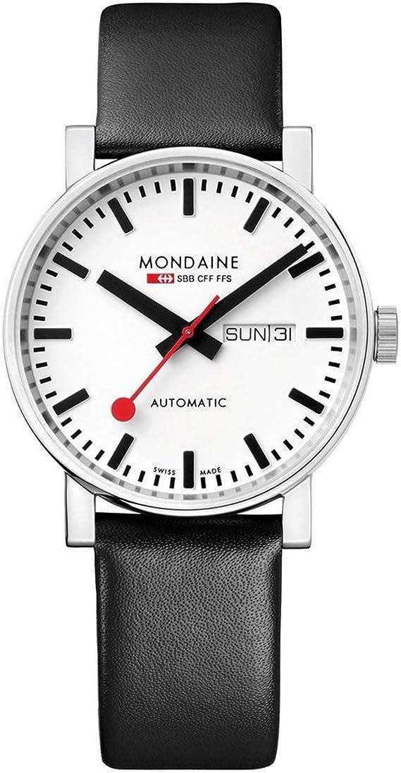 Mondaine Men's A132.30348.11SBB Evo Big Evo Automatic Analog Display Swiss Automatic Black Watch