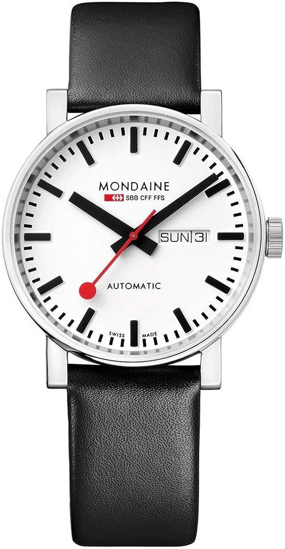 Mondaine SBB Evo Automatic 40mm A1323034811SBB Reloj de pulsera Automático Hombre correa de Cuero Negro