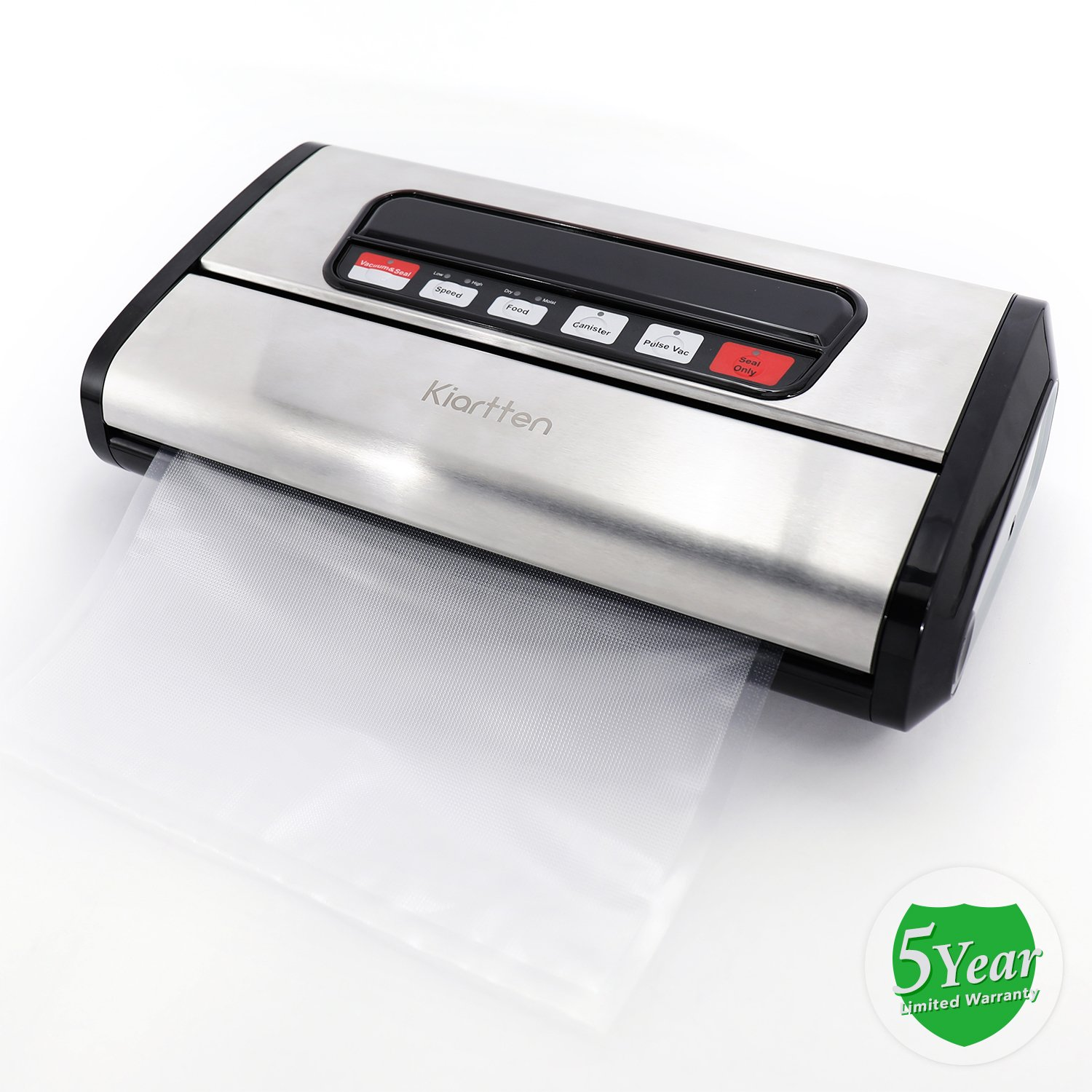 Kiartten Vacuum Sealer, A Fresh Food Locker for Your Kitchen. Keeps Food Fresh Up To 5X Longer. (Stainless Steel) by Spreaze (Image #8)