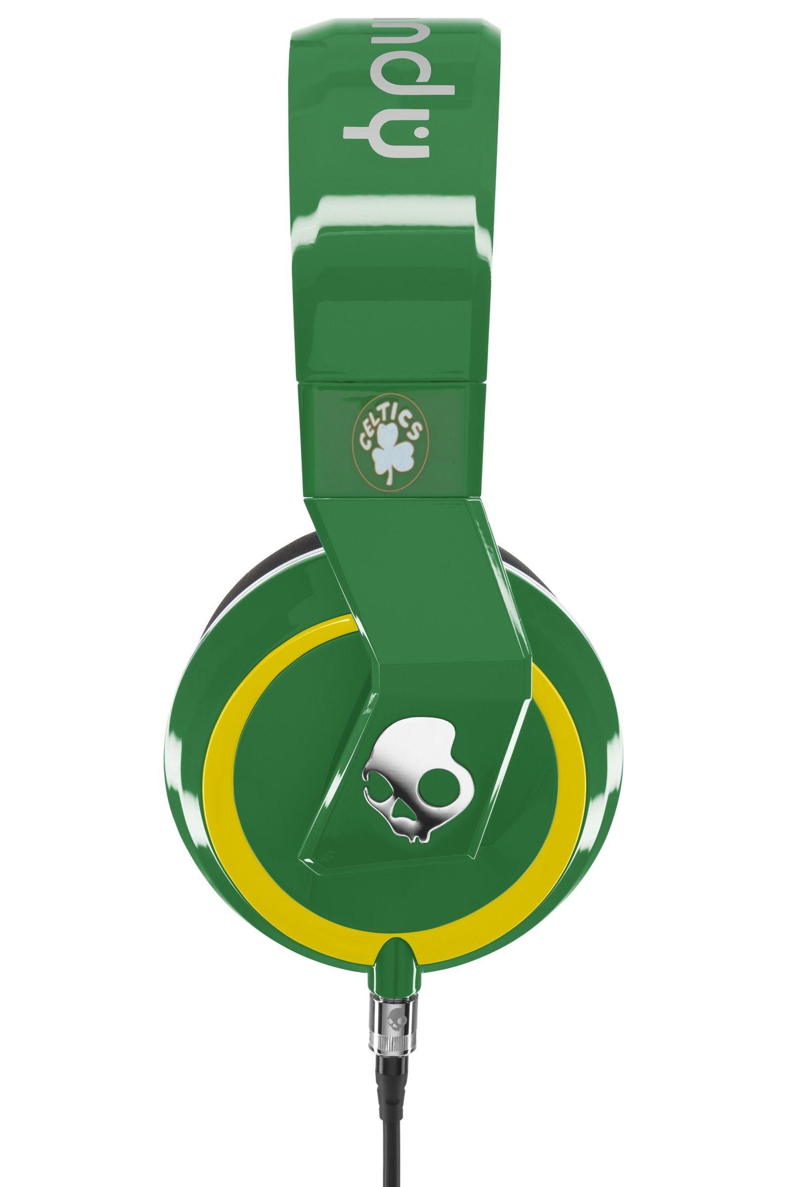 Skullcandy Mix Master Headphones with DJ Capabilities and 3 Button Mic, NBA Boston Celtics by Skullcandy (Image #2)