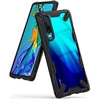 Ringke Funda Huawei P30, [Fusion-X] Transparente Ergonómico Protector TPU Back Claro PC [Protección contra Caídas de Grado Militar] La Tecnología de Absorción de Golpes Cover - Negro Black