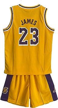 SALLARM James #23 Conjunto de Jersey Lakers Uniforme de Baloncesto Ropa Deportiva para niños: Amazon.es: Deportes y aire libre
