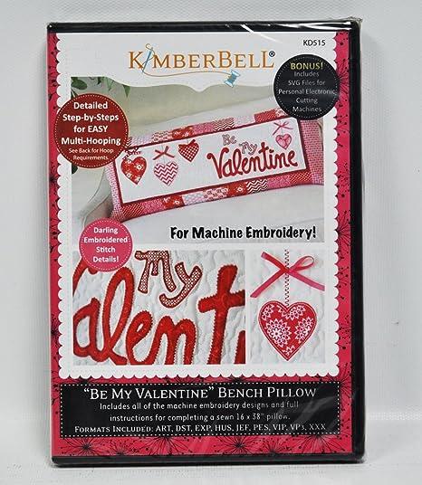 Kimberbell ser mi San Valentín banco almohada para máquina ...